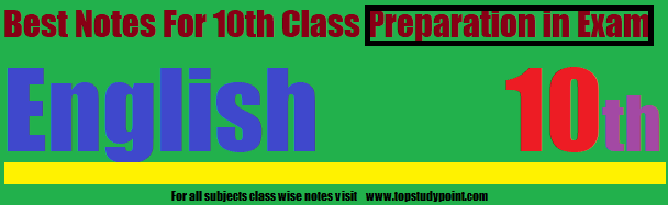10th Class English Chapter wise Notes Download