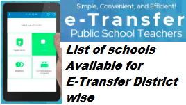 List of schools Available for E-Transfer District wise