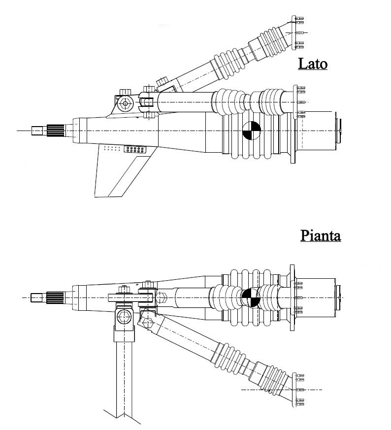 Trasmissione nautica Top System TS 105