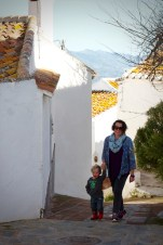Following the footsteps walk, Comares, Andalucia