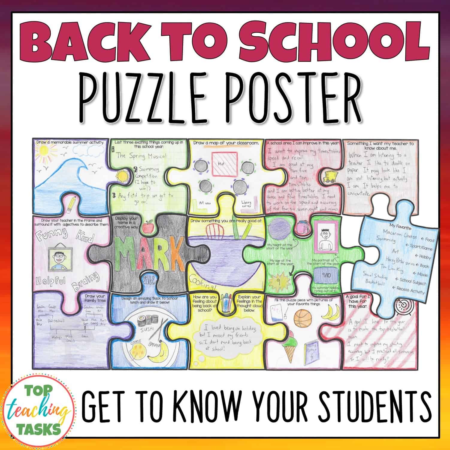 Back To School Activities Bundle