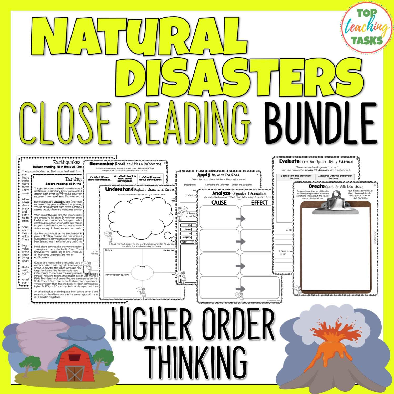 Natural Disasters Reading Comprehension Passages And Questions Bundle