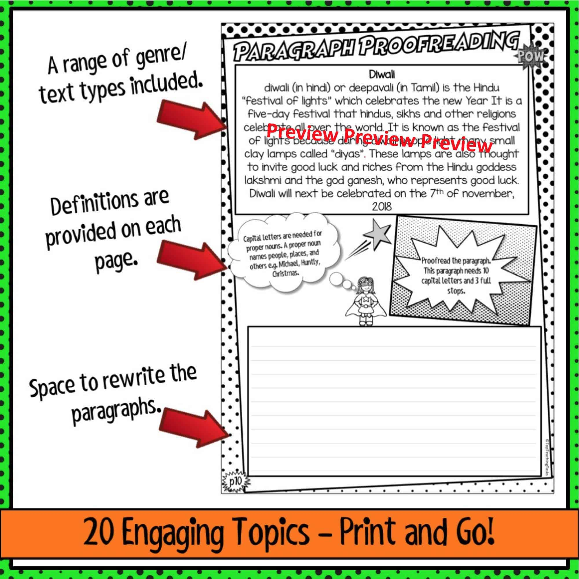 Punctuation Proofreading Practice Activities