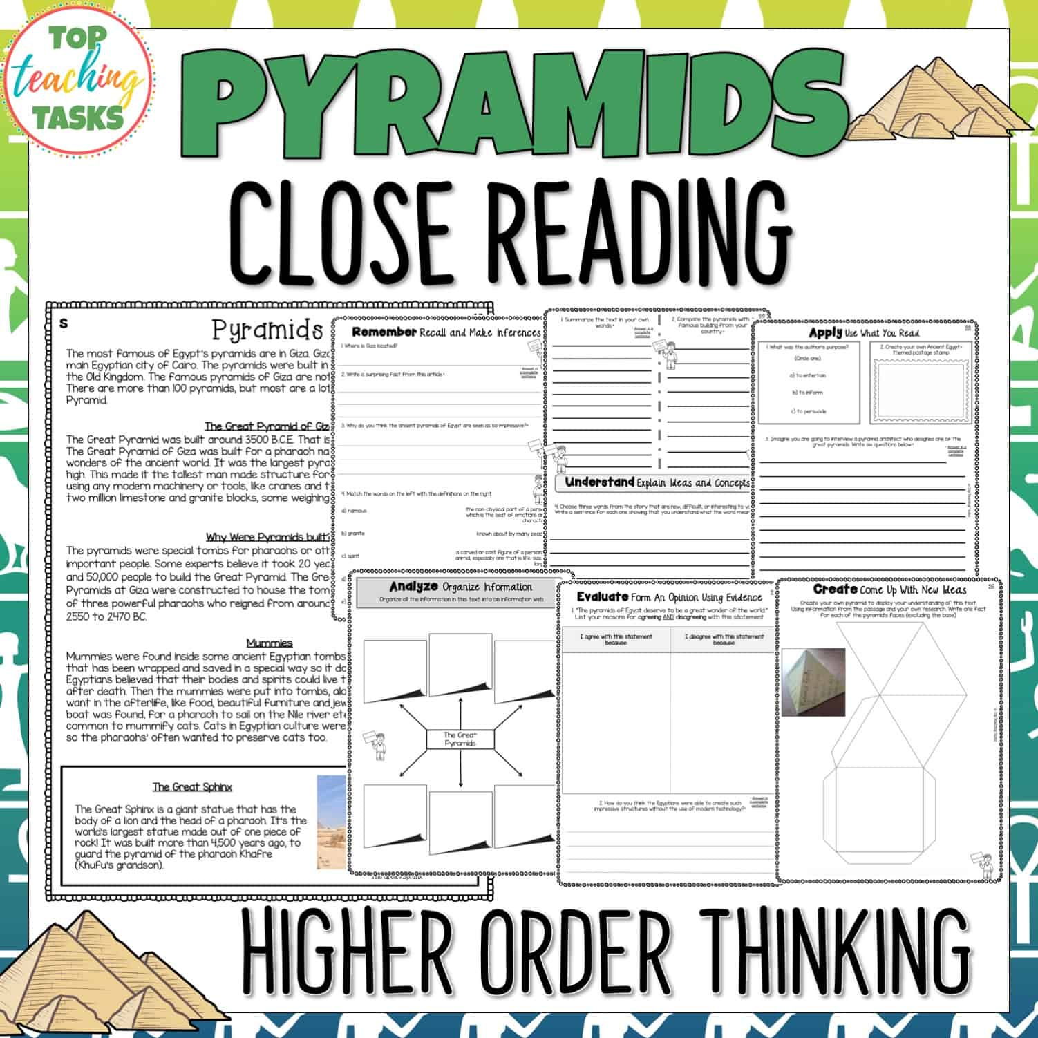 Pyramids Reading Comprehension Passages And Questions