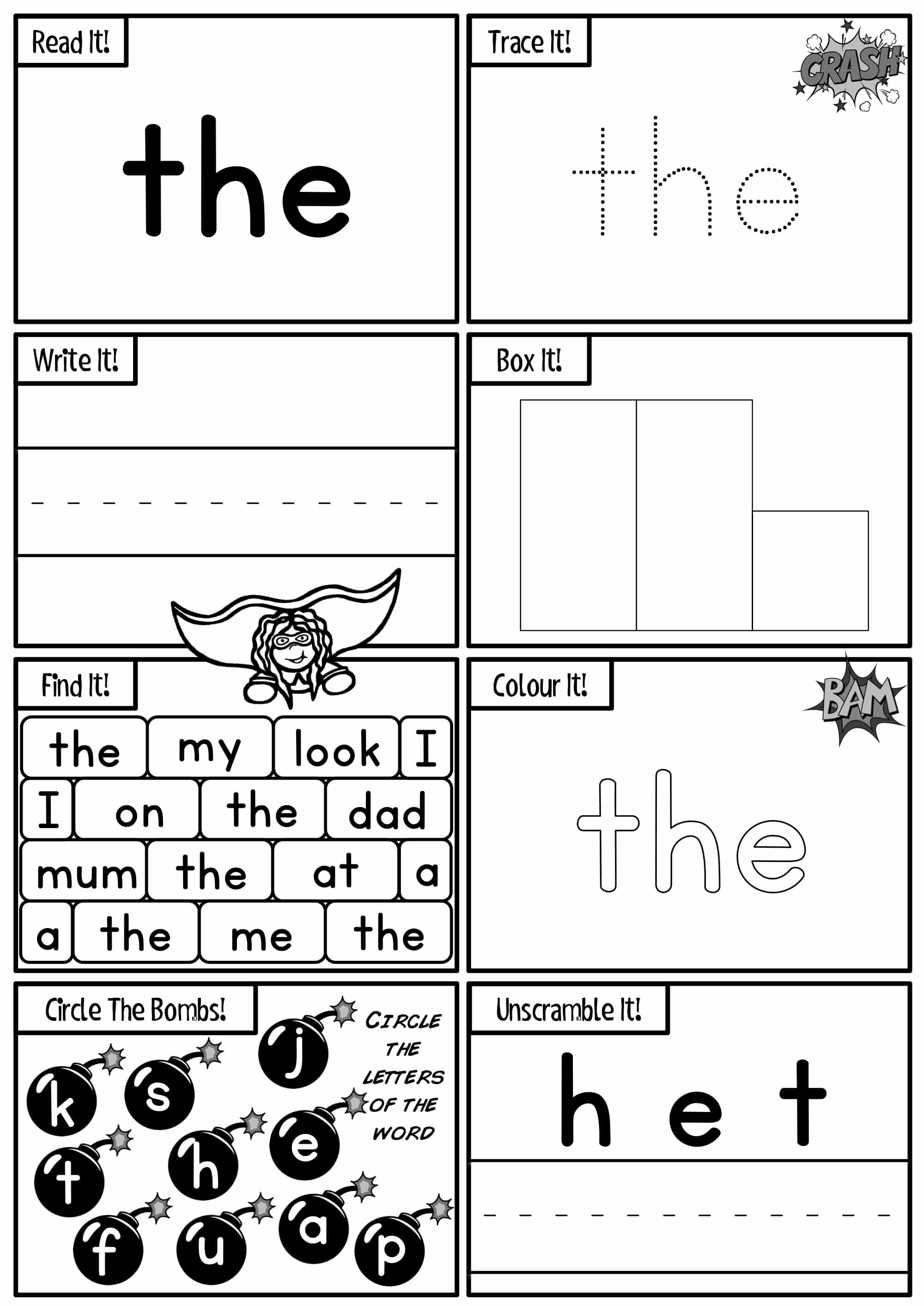 Sight Words Activity Worksheets