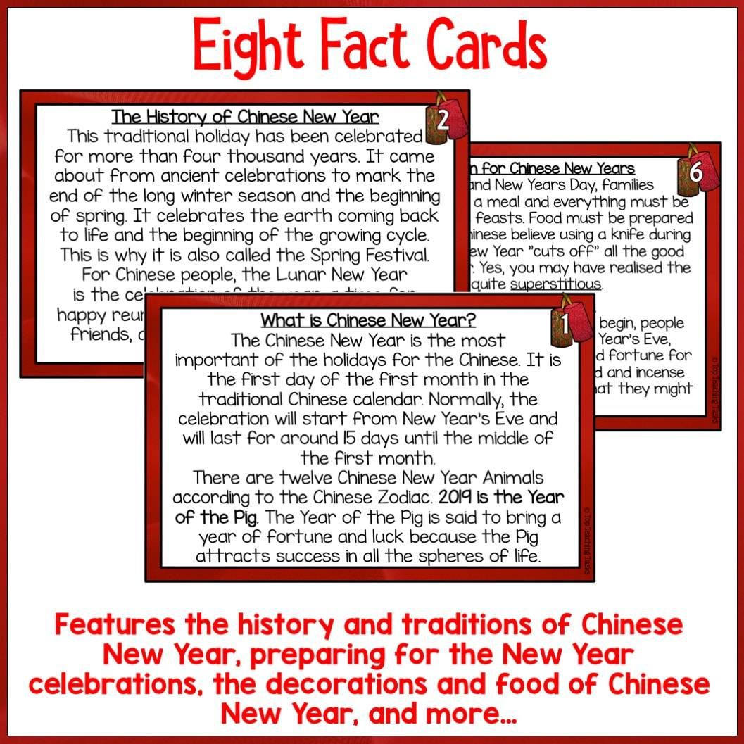 Chinese New Year Reading Comprehension Activity