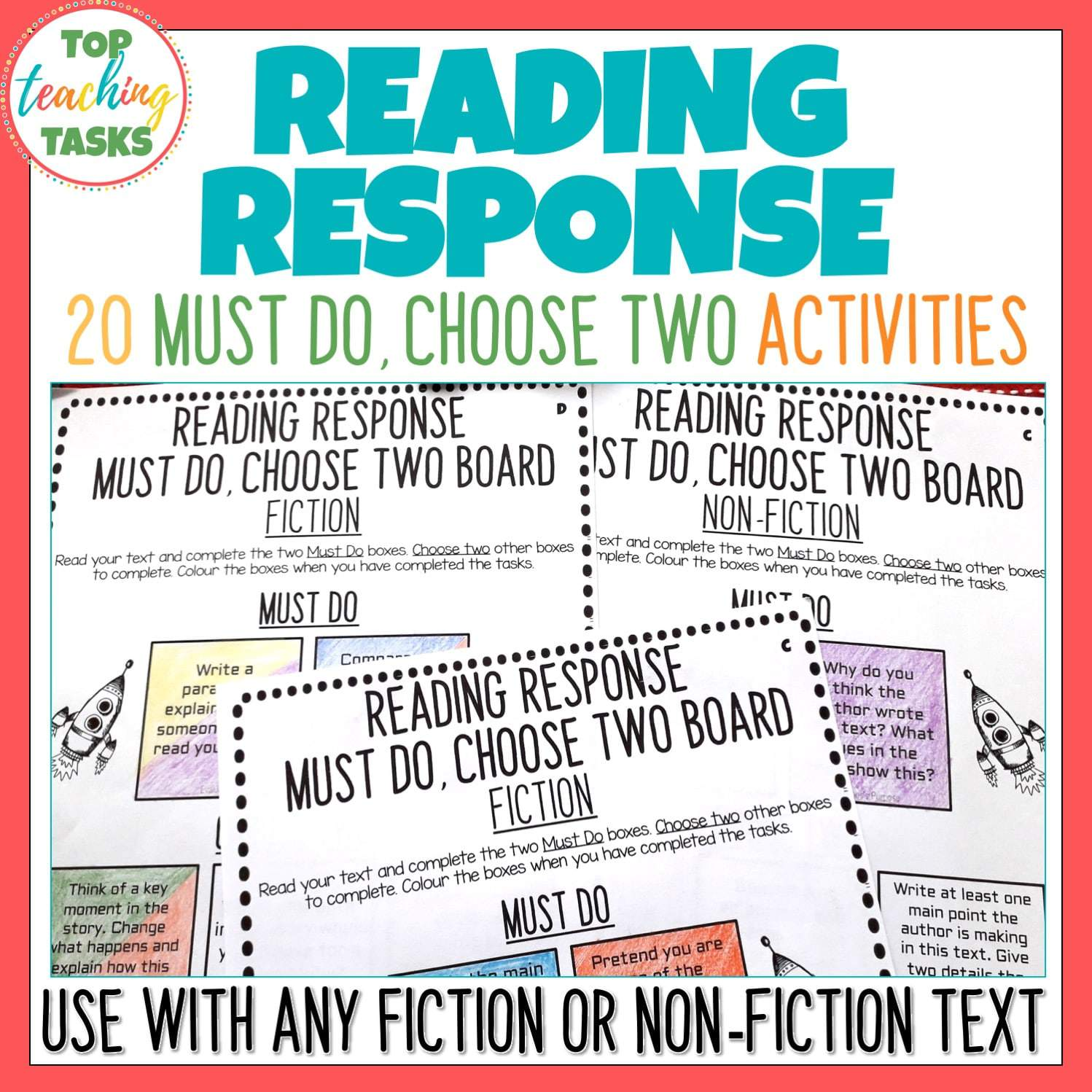 Reading Response Worksheets For Fiction And Non Fiction Texts
