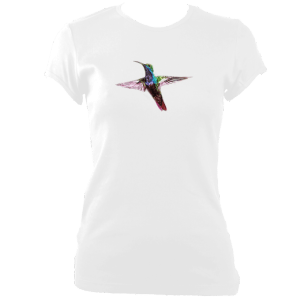 Hummingbird printed on womens fitted tee-shirt from Toptease