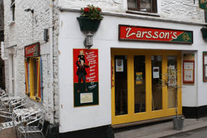 Larsson's Coffee House, Looe, Cornwall.