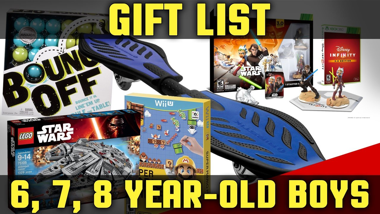 Best Christmas Gifts For Boys Ages 6-8 2017