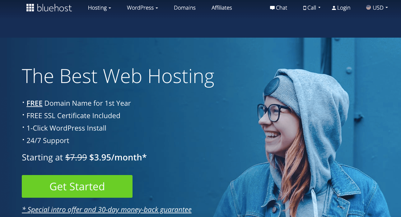 Bluehost Review - Bluehost website