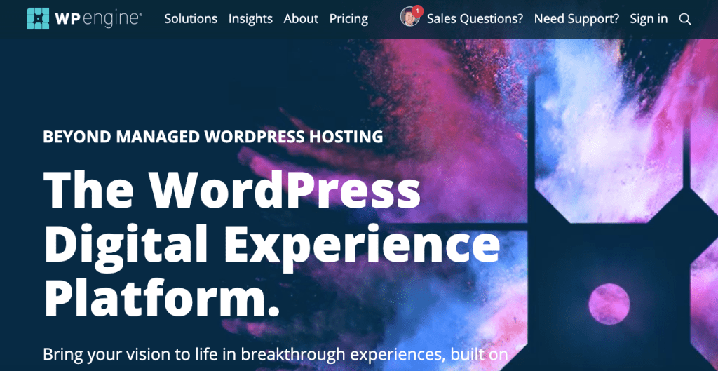 WP Engine Home Page