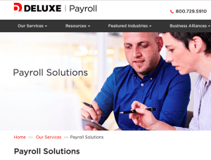 Deluxe Payroll website