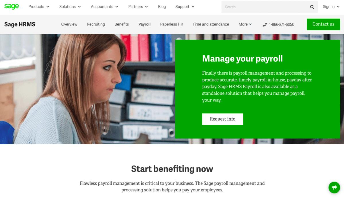 Sage Payroll Web Page