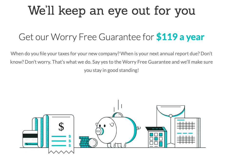 Zenbusiness worry free guarantee