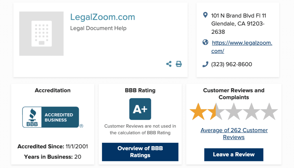 BBB Legalzoom