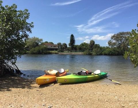 kayaking for exercising outdoors