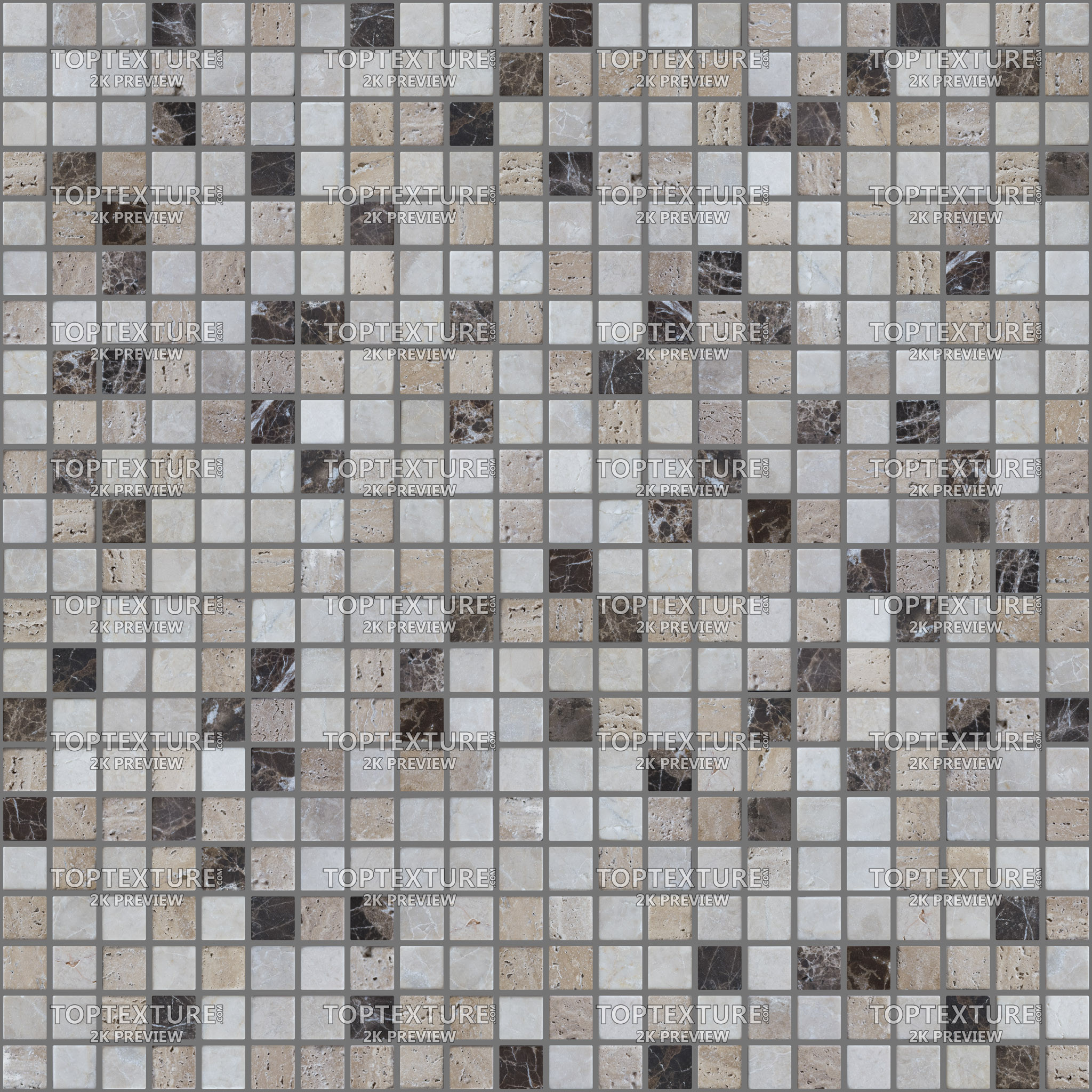 small square beige and brown interior tiles
