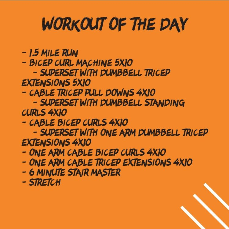 Arm Workout Circuit (10/15 WOD)