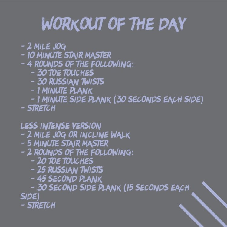 Cardio and Ab Circuit (WOD 10/9)