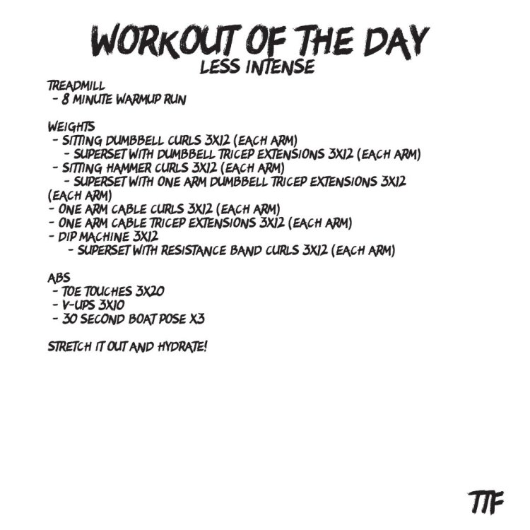 quick bicep and tricep workout