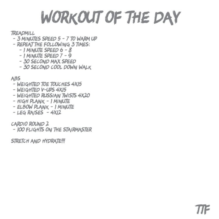 Cardio and Ab Focused Workout