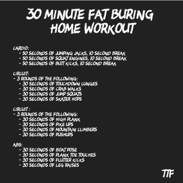 30 Minute Fat Burning Home Workout