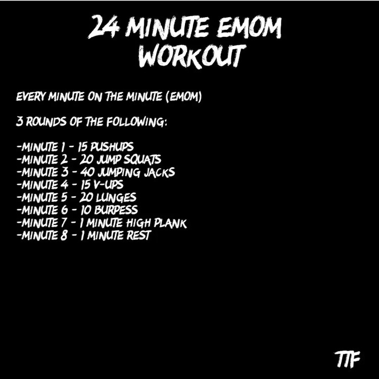 24 Minute EMOM Workout
