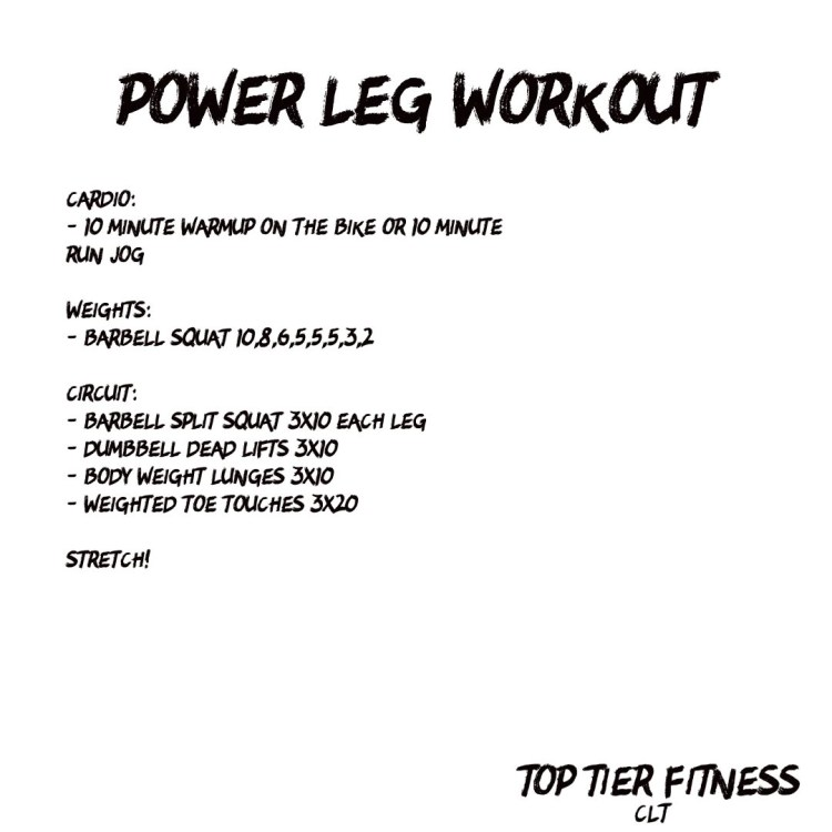 Power Leg Workout