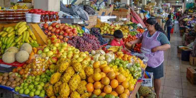 Fruit at a market in Ecuador