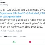 Just In: How a Bolt Driver escaped ritualist but was victimized by SARS