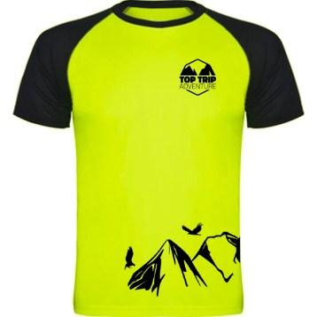 Camiseta Amarela Preta