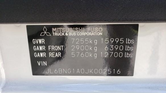 2018 Mitsubishi-Fuso FE160 Diesel with a 16 Morgan alum body