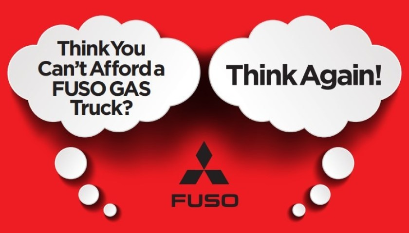 Think you can't afford a Fuso gas truck? Think again my friend!