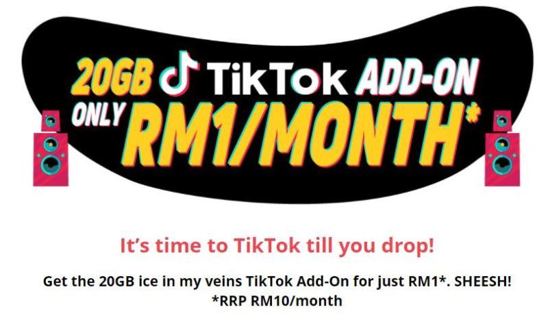 Yoodo Menawarkan 20 GB Data Tiktok RM1