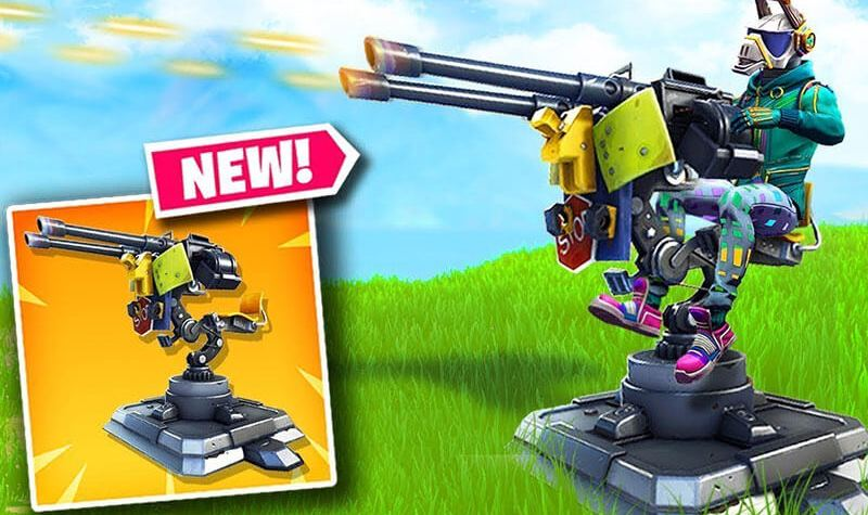 Fortnite New Item The Mounted Turret Tips Top Usa Games