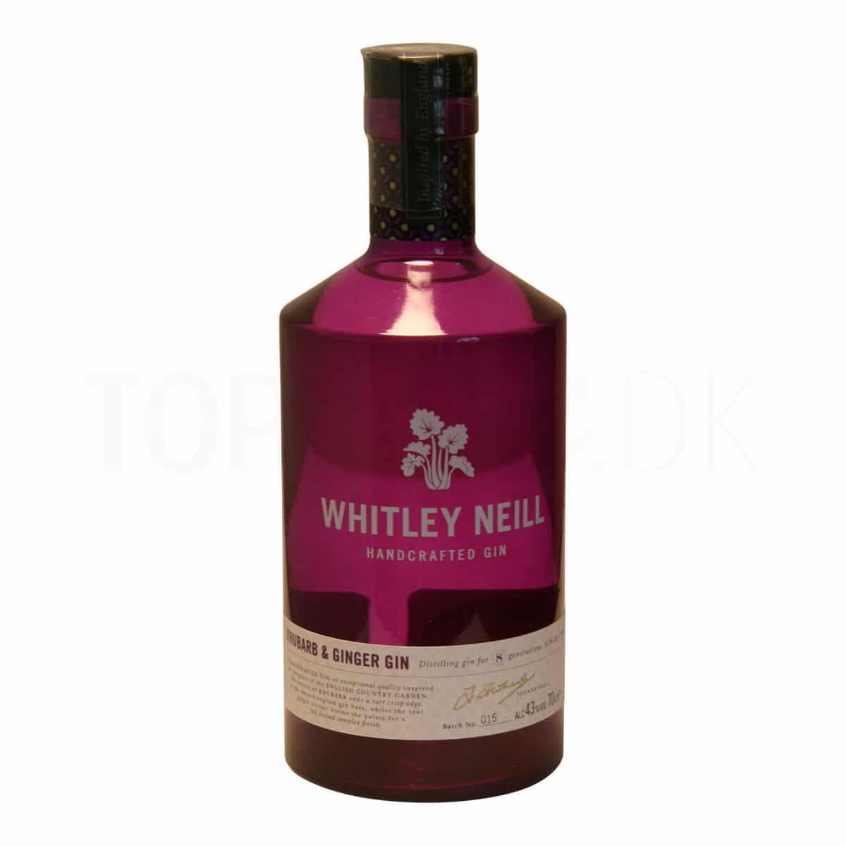 Topvine Whitley Neill rabarber og ingefaer gin