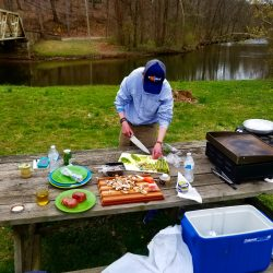 Outdoor Cooking Lesson for Professional on Business Trip