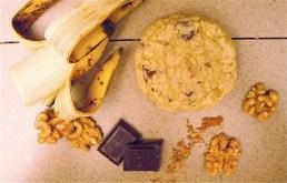Cookie banane et noix