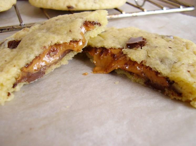 cookie fourré au beurre de cacahuète