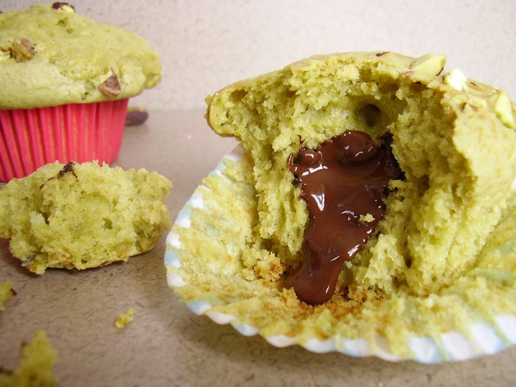 Muffin Pistache Coeur Chocolat Toque De Choc