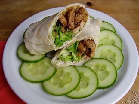 Wrap poulet caramel tzatziki