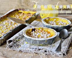 Torta limone ou tarte au citron et pignons de pin de Cathy