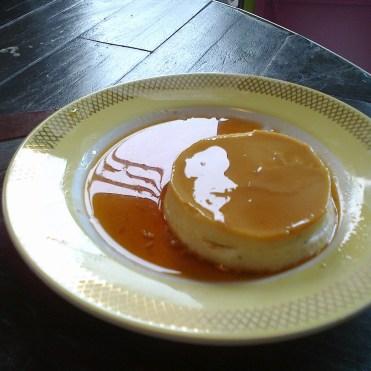 et la crème caramel faite maison aussi !