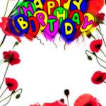 Download Free Picture Happy Birthday Drawing Cartoon Style Air Balloons Card Flowers Frame On Cc By License Free Image Stock Torange Biz Fx 213694