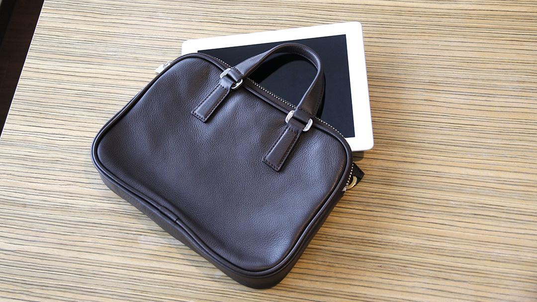 アニアリ ミニブリーフバッグ クラッチ Shrink Leather Brief 3 ANIARY 07-01004