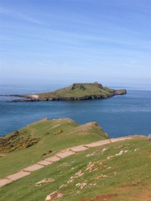 Worms Head at high tide