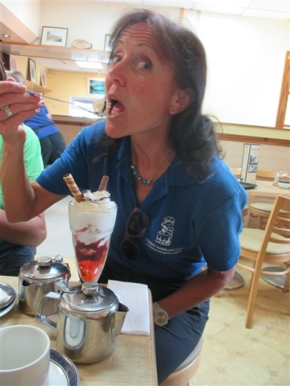 A well deserved Knickerbocker Glory for Jules, photographer today...