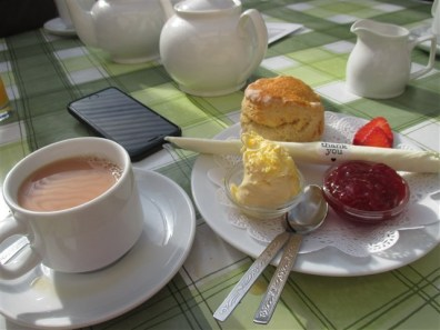 Lovely Cream Tea in The Walled Garden Cafe
