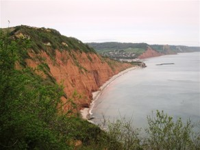 Looking back to Sidmouth